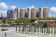 Valencia skyline Stock Image