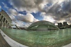Valencia (Spagna), città delle arti e scienze fotografie stock libere da diritti