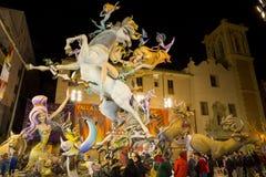 Valencia in Fallas Fotografia Stock Libera da Diritti