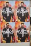 Spanish April 2019 election billboard stock photo