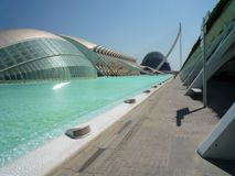 Valencia, Spain - August 2009: Arts and Science Museum by Calatrava Royalty Free Stock Photos
