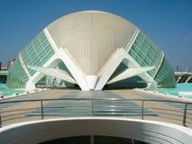 Valencia, Spain - August 2009: Arts and Science Museum by Calatrava Stock Photos