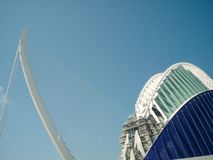 Valencia, Spain - August 2009: Arts and Science Museum by Calatrava Stock Images
