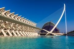 VALENCIA, SPAIN - August 2018 Museum of Science in Valencia royalty free stock photography