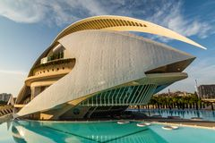 VALENCIA, SPAIN - August 2018 Museum of Science in Valencia stock photos