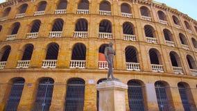 Valencia Spain Bullring Plaça de Bous. Valencia Spain 25 December 2016: City Center with Bullring Plaça de Bous stock video