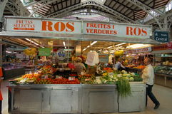 Valencia, Spain: Central Market Hall Stock Photography
