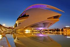 Valencia, Spain. City of Arts and Sciences at sunset in Valencia, Spain Stock Image