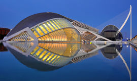 Valencia, Spain. City of Arts and Sciences at sunset in Valencia, Spain Stock Photography