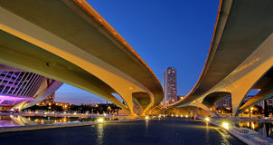 Valencia, Spain. City of Arts and Sciences at sunset in Valencia, Spain Royalty Free Stock Photo