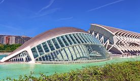 Valencia, Spain. City of Arts and Sciences in Valencia, Spain royalty free stock photo