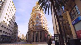 Valencia Spain City Center Architecture. Valencia Spain 25 December 2016: City Center Architecture stock video