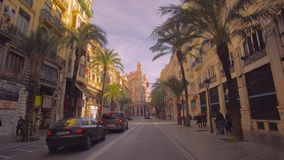 Valencia Spain City Center Architecture. Valencia Spain 25 December 2016: City Center Architecture stock video