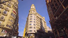 Valencia Spain City Center Architecture stock footage