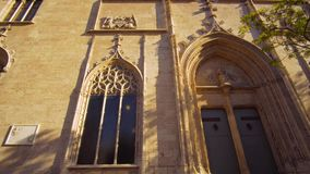 Valencia Spain City Center Church Details. Architecture stock video footage