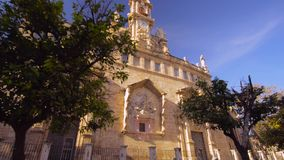 Valencia Spain City Center Church Details. Architecture stock footage