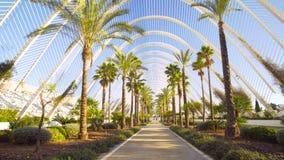Valencia Spain City Center med modern arkitektur arkivfilmer