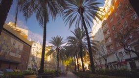 Valencia Spain City Center mit moderner Architektur stock video