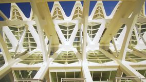 Valencia Spain City Center with Modern Architecture. Valencia Spain 25 December 2016: City Center with Modern Architecture stock video