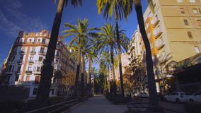 Valencia Spain City Center with Modern Architecture stock video footage