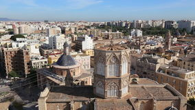 Valencia Spain city view from tower stock video