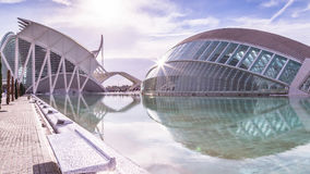 Valencia,Spain December 01, 2016: City of arts and science Royalty Free Stock Photos