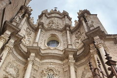 Valencia, Spain facade of Cathedral Church Royalty Free Stock Photos