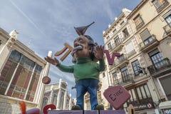 Valencia,Spain. Fallas, Falles, traditional and famous celebration, Einstein ninot, puppet,Valencia, Spain Stock Photo