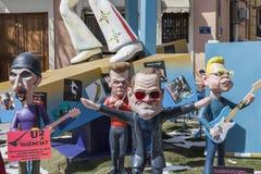 Valencia,Spain. Fallas, Falles, traditional and famous celebration, U2 ninots, puppets,Valencia, Spain Stock Image