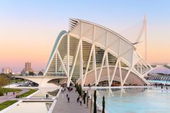 Museum of science in Valencia, Spain royalty free stock images