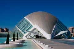 City of Arts and Sciences. Architects Santiago Calatrava and Felix Candela. Valencia, Spain. February 6, 2019. Hemisferic building. City of Arts and Sciences royalty free stock photo