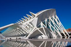 City of Arts and Sciences. Architects Santiago Calatrava and Felix Candela royalty free stock photos