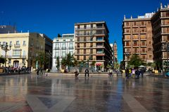 View of the Square of the Virgin Plaza de la Virgen royalty free stock photography