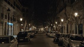 Quiet street in night Venice, Italy stock footage