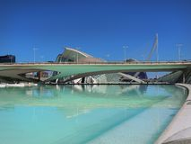 Valencia ,modern part of the city Royalty Free Stock Photo