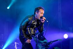 Love of Lesbian band perform in concert at Festival de les Arts Royalty Free Stock Image