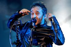 Love of Lesbian band perform in concert at Festival de les Arts Royalty Free Stock Images