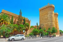 Towers of Quart Torres de Quart is one of the twelve gates ,of. Valencia, Spain - June 13, 2017 : Towers of Quart Torres de Quart is one of the twelve gates that Royalty Free Stock Photos