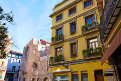 Valencia  in Spain Lope de Vega square downtown Royalty Free Stock Images