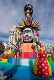 Complex statues created for the Fallas Festival in Valencia royalty free stock photo