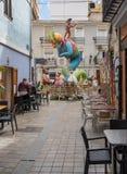Complex statues created for the Fallas Festival in Valencia stock photos