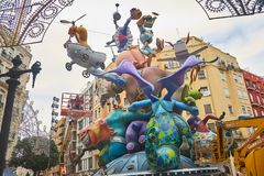 VALENCIA, SPAIN - MARCH 13 - 2018: Fallas de Valencia. Spain royalty free stock photo