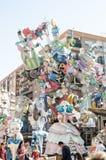 Valencia, Spain, March 17, 2019. Fallas Festival of Valencia. Winner Falla, special section, located in Antigua Campanar royalty free stock images