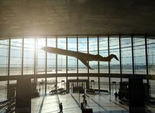 Domestic departure hall at Manises Airport in Valencia, Spain royalty free stock photo