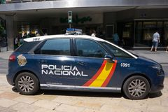 Spain National Police Car in Public royalty free stock photo