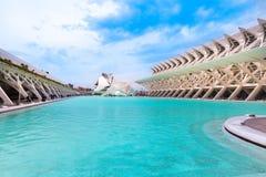 Valencia Spain, museu da construção da ciência, a hemisferic e da ópera Imagem de Stock Royalty Free