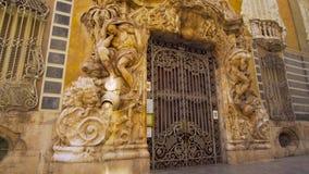 Valencia Spain Museum da fachada da cerâmica vídeos de arquivo
