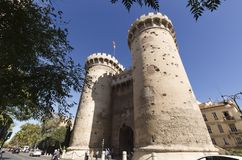 The Quart Towers fron Valencia Royalty Free Stock Image