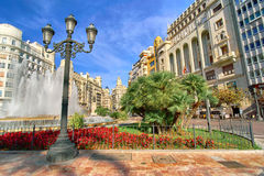 Valencia Spain | Plaza del Ayuntamiento Stock Photography