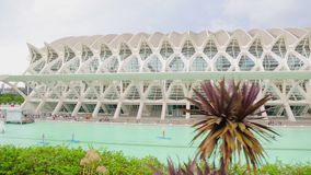 VALENCIA, SPAIN - September 10, 2018: City of Arts and Sciences. Large tourist town is surrounded by a large park. The